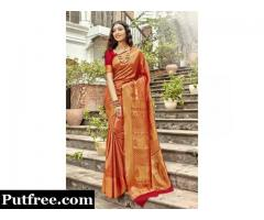 Buy The Latest Jacquard Saree From Mirraw At Best Price