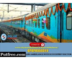 Pick Sky Train Ambulance Service in Jamshedpur with Best Medical Support