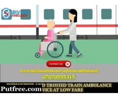 Get Sky Train Ambulance in Siliguri with Entire Medical Support