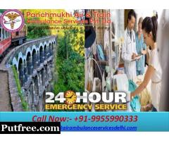 Get ICU Train Ambulance Services from Patna to Delhi for Emergency Patient Transfer