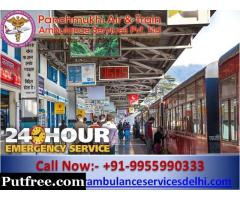 Get Reliable Train Ambulance Services from Ranchi to Delhi with Unique Medical Setup