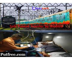 Medilift Train Ambulance from Patna to Delhi – Doctor Facility at Low Fare