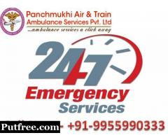 Get Low-Cost Panchmukhi Train Ambulance Service in Delhi with Medical Care