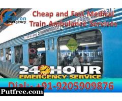 Get Falcon Train Ambulance Services in Delhi for Expert Medical Team