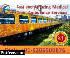 Get Best and Affordable Train Ambulance in Siliguri by Falcon Emergency
