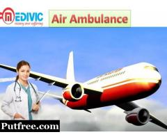 Hire  Medivic Air Ambulance  Service in Dibrugarh at Affordable Price