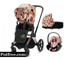Cybex Priam Stroller Travel System - Spring Blossom (Light)