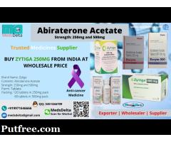 Buy Generic Zytiga 250mg Tablets | Abiraterone 250mg Price India | Indian Zytiga Wholesaler Price