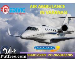 Select Stupendous Emergency Service by Medivic Air Ambulance from Varanasi