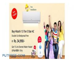 Buy All Branded Split AC With Free Installation and Door Delivery at SATHYA Online SHopping