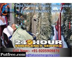 Falcon Emergency Train Ambulance in Jamshedpur with Amazing ICU Facility