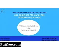 Bahawalpur Board Past Papers Solutions
