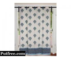 Purchase Handmade Geometric Door and Window Curtains Online