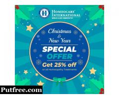 Get 25% Special off On All Homeopathy Treatments