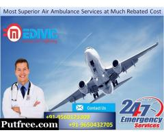 Always Active Medivic Air Ambulance in Kolkata at Nominal Price