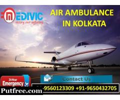 Book Well-Maintained Private Charter Air Ambulance in Kolkata by Medivic