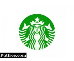 Clear Vinyl Stickers | Starbucks Logo Custom Stickers | Customsticker.com ™