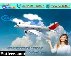 Hire Medilift Advanced Patient Care Air Ambulance in Bangalore
