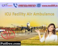 Take Instant Transfer Air Ambulance Service in Gorakhpur with ICU
