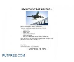 RECRUITMENT FOR AIRPORT