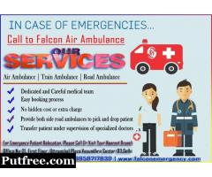 Intensive Care Support Hyderabad Train Ambulance for Patient Transfer- Falcon Emergency