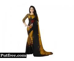 Buy Alluring Crepe Silk Saree Online at Discount Price