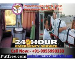 Get Best Emergency with Complete ICU Facility - Panchmukhi Train Ambulance in Kolkata