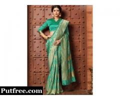 Buy The Latest Collection of Jacquard Sarees From Mirraw