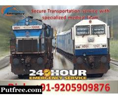 Book Falcon Emergency Train Ambulance Services in Allahabad with Unique ICU Tools