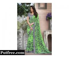Buy Stylish Green Sarees Collection Online at Mirraw
