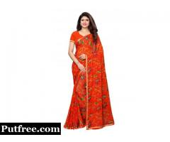 Shop Exclusive Designer Orange Sarees Online From Mirraw