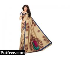 Buy the Beautiful Collection of Beige Sarees Online From Mirraw