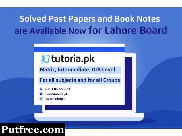 BISE Lahore Board Past Papers and Book Notes