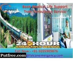 Get Life Savior Train Ambulance in Delhi at Low Cost by Falcon Emergency