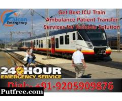 Get Best and Low-Cost Train Ambulance in Guwahati by Falcon Emergency