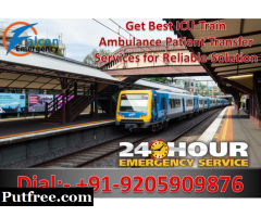 Now Moat Affordable ICU Train Ambulance in Ranchi by Falcon Emergency