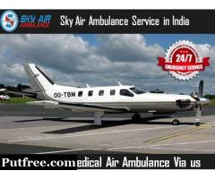 Choose Highly Credible Air Ambulance in Amritsar for Patient Transportation