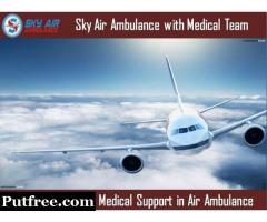 Get Dependable Medical Setup in Sky Air Ambulance from Bhubaneswar