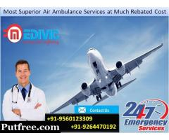 Gain Pro-Eminent Emergency Air Ambulance Services in Kolkata by Medivic