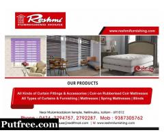 Best Curtains and furnishing works in Kollam Kottarakkara Karunagappally Punalur Chavara Kadakkal