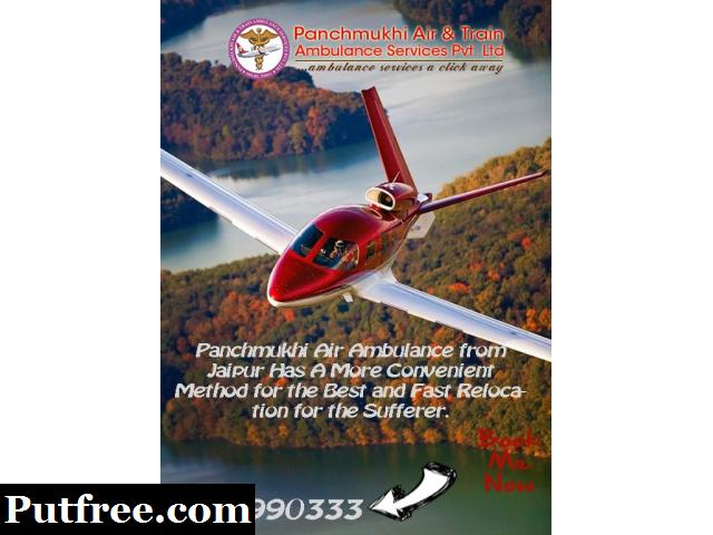 Hi-Tech 24 Hours Available Panchmukhi Air Ambulance Service in Jaipur- Book Now