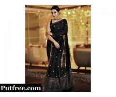 Buy Party Wear Designer Cocktail Sarees Online from Mirraw