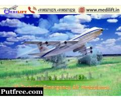 Pick Country Best Air Ambulance Service in Bagdogra by Medilift