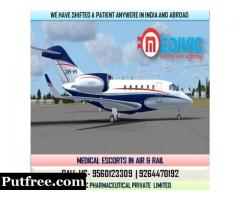 Book Most Esteemed Medical Care Air Ambulance in Kolkata by Medivic