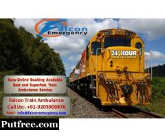 Get Falcon Emergency Train Ambulance from Kolkata at a Genuine Rate