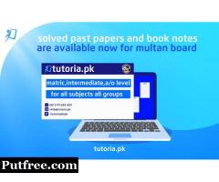 Multan Board Past Papers Solutions and Booknotes