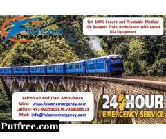 Avail Superfast Train Ambulance from Patna to Mumbai with Best Service at Genuine Rate
