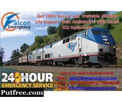 Get Falcon Emergency Train Ambulance in Kolkata with Best Services at the Cheap Cost