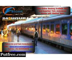 All Activities provided with the Best Amenities in Train Ambulance Delhi- Falcon Emergency