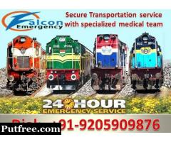Falcon Emergency Air and Train Ambulance Patient Transfer Service in Bangalore at Low-Cost